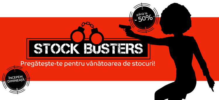Stock Busters 21 - 23 martie 2017 eMAG