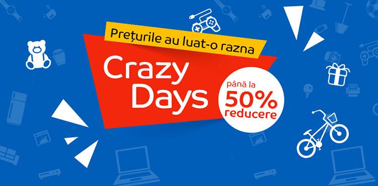 Campanie Crazy Days din 1 - 7 iunie 2017 la eMAG