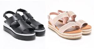 Sandale cu platforma dreapta