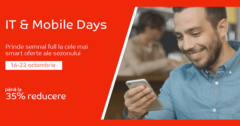 Campanie IT & Mobile Days din octombrie 2017 la eMAG