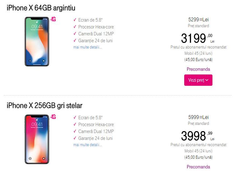 iPhone X Telekom