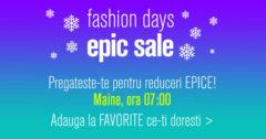 Campanie Epic Sale la FashionDays din ianuarie 2018