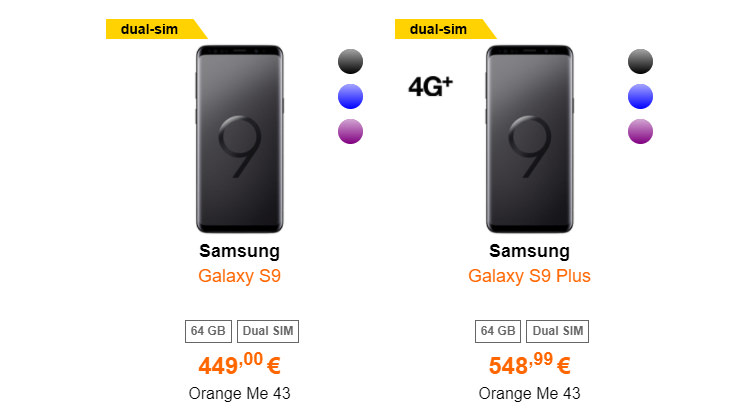Samsung Galaxy S9 si S9 Plus Orange