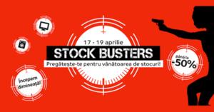 Campanie Stock Busters din 17 - 19 aprilie la eMAG
