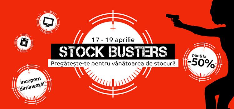 Stock Busters din 17 - 19 aprilie la eMAG