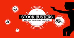 Campanie Stock Busters din 17 - 20 iulie la eMAG