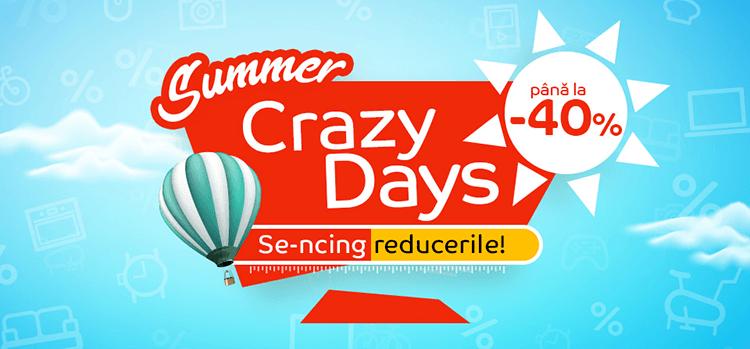 Crazy Days din 6 - 20 august la eMAG