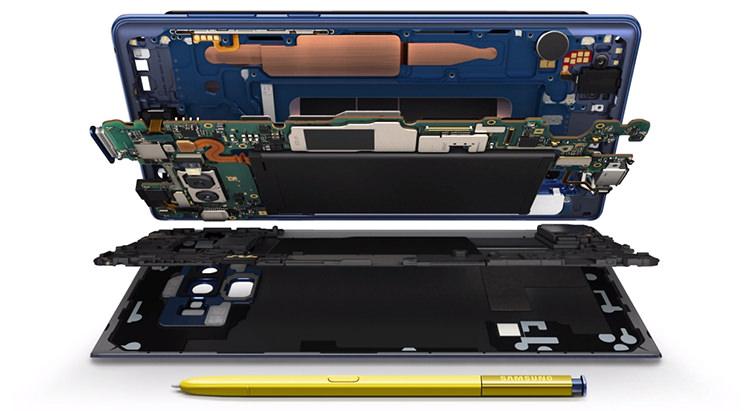 Interior Samsung Galaxy Note 9