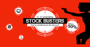 Campanie Stock Busters din 9 - 12 octombrie 2018 la eMAG