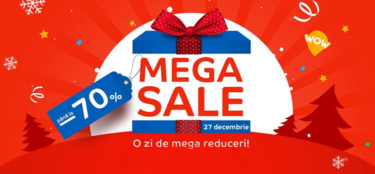 Mega Sale din 27 decembrie la eMAG