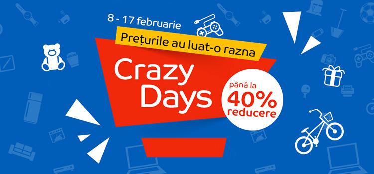 Crazy Days din 8 - 17 februarie la eMAG
