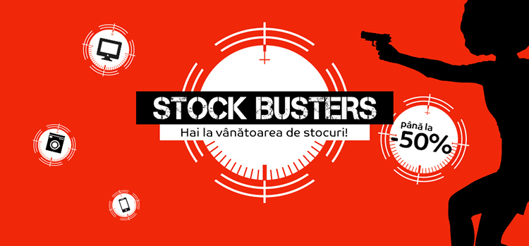 Stock Busters din 19 - 21 februarie 2019 la eMAG