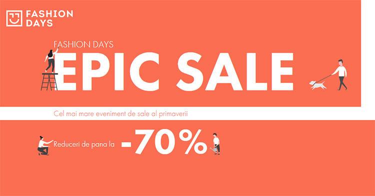 Epic Sale la FashionDays din mai 2019