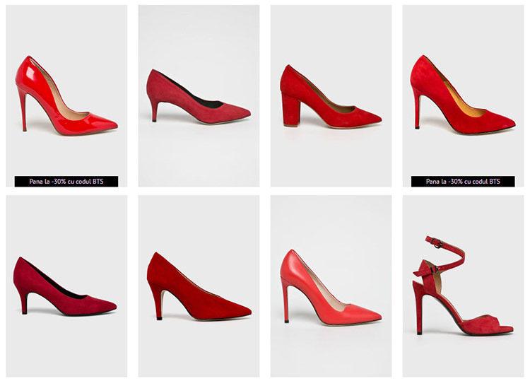 Pantofi roșii Answear