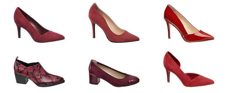 Pantofi roșii Deichmann