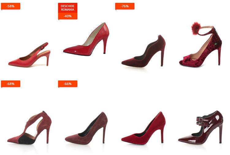 Pantofi roșii eMAG