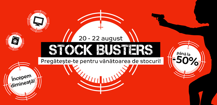 Stock Busters din 20 - 22 august 2019 la eMAG