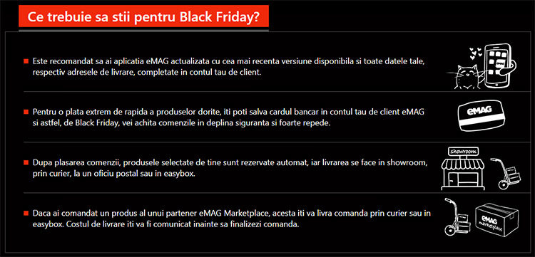 Sfaturi Black Friday 2019 la eMAG