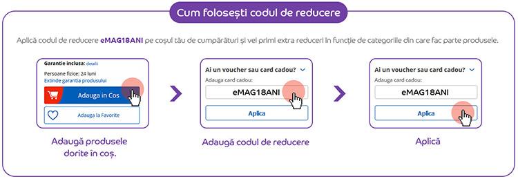 Cod de reducere eMAG18ANI