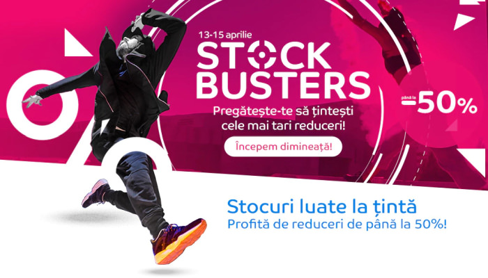 Stock Busters la eMAG aprilie 2021