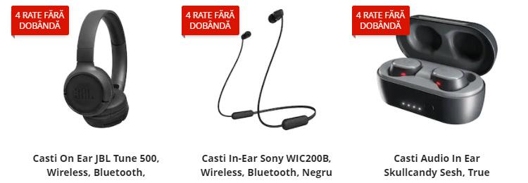 Căști cu Bluetooth eMAG