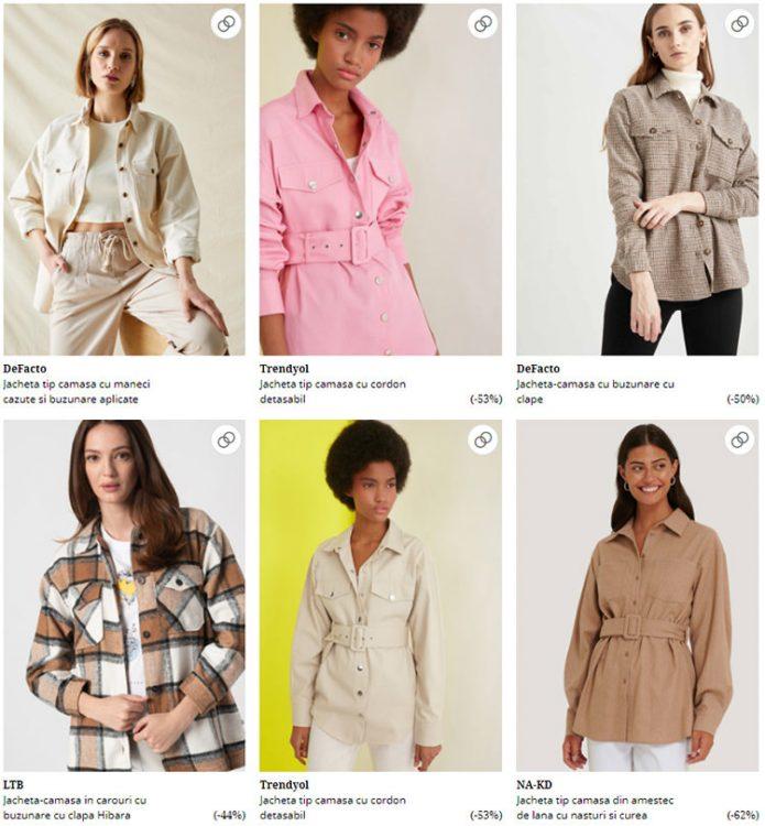 Jachete cămașă FashionDays