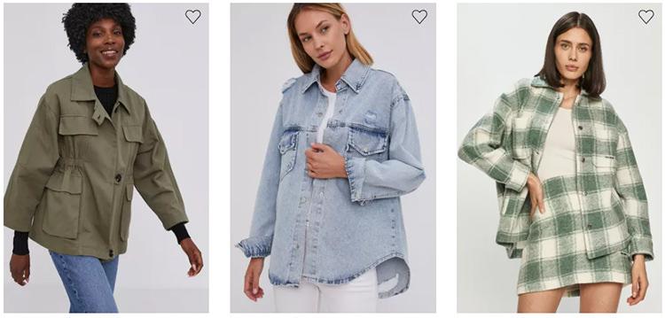 Jachete tip cămașă