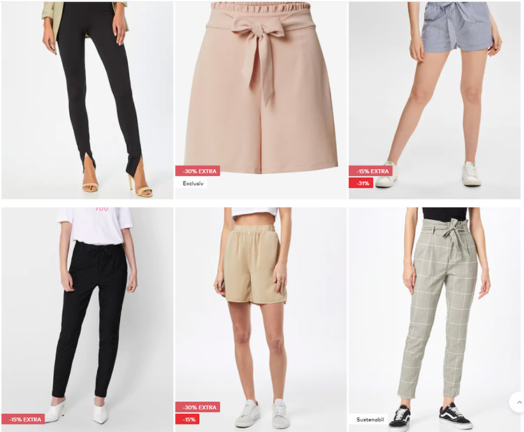 Pantaloni cu talie ridicată About You