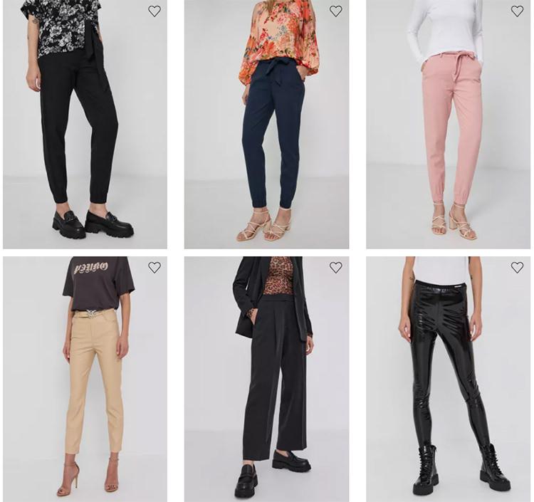 Pantaloni cu talie ridicată Answear