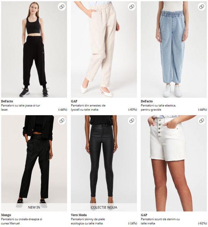 Pantaloni cu talie ridicată FashionDays