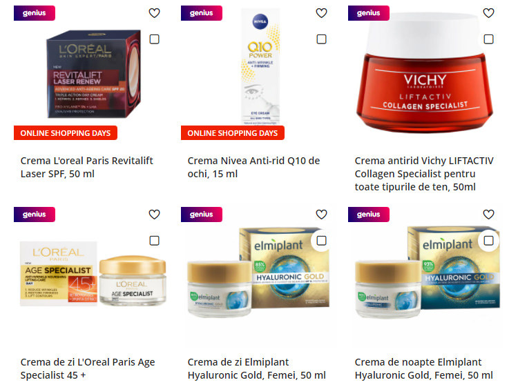 Creme antiage eMAG